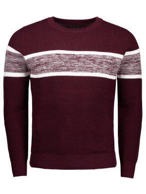 Suéter con cuello redondo de algodón