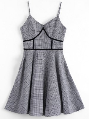 Houndstooth Slip Kleid
