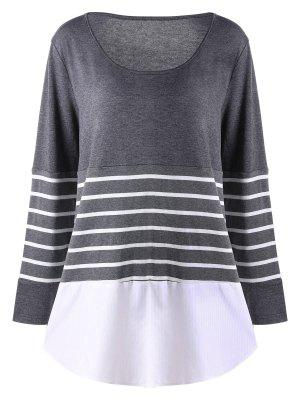 Plus Size Striped Jersey Top