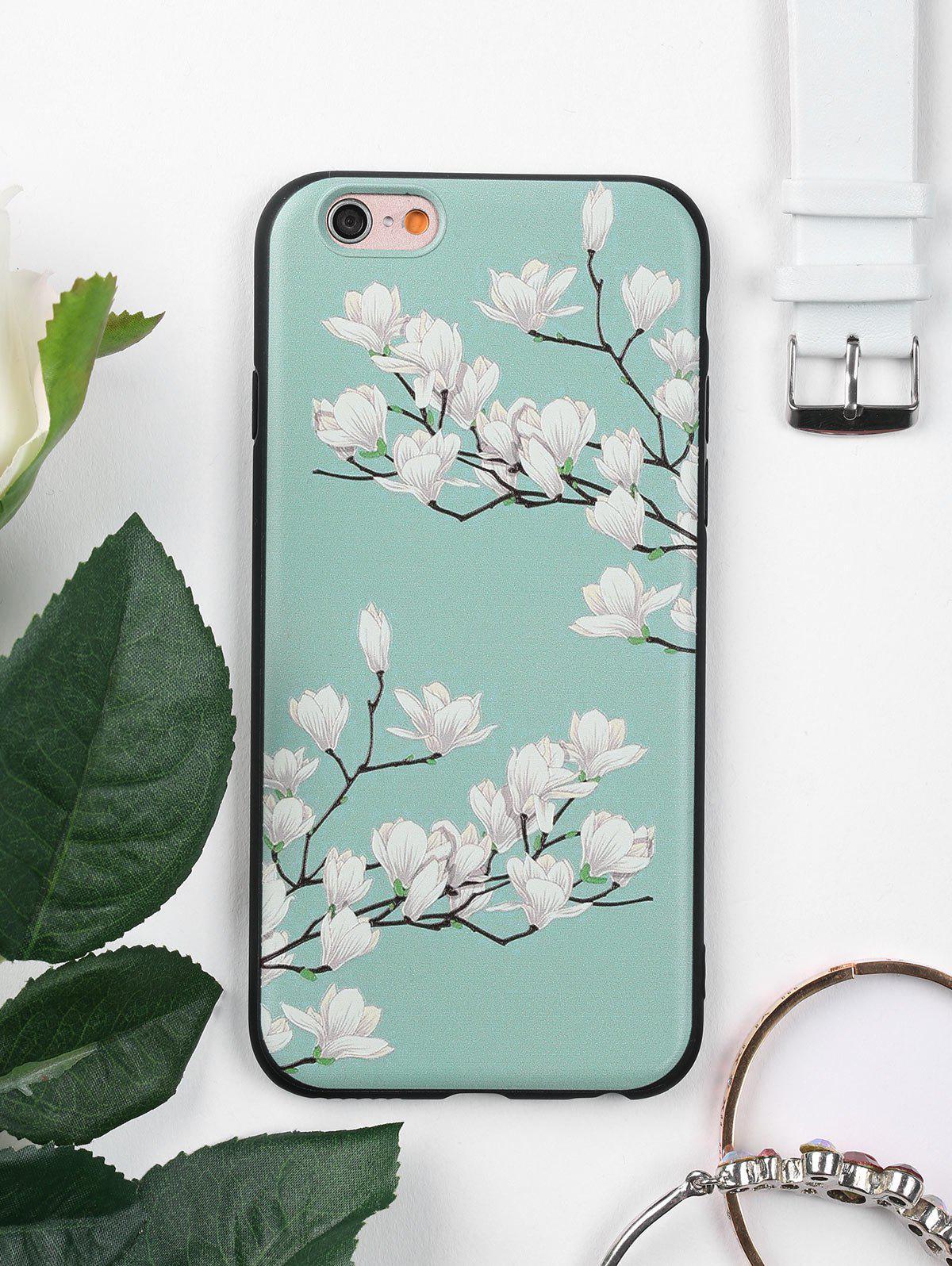 Étui de téléphone de motif de fleur d'arbre pour Iphone
