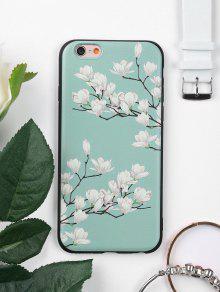 غطاء الهاتف ناعم بنمط شجرة وأزهار للابل ايفون - أخضر آيفون 6 / 6s