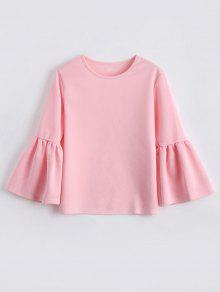 Buy Flare Sleeve Boxy Top - LIGHT PINK XL
