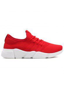 تنفس شبكة منخفضة أعلى أحذية رياضية - أحمر 42