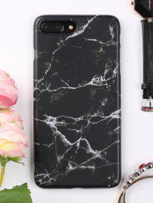 غطاء الهاتف الناعم الرخام للابل ايفون - أسود ل Iphone 7 Plus