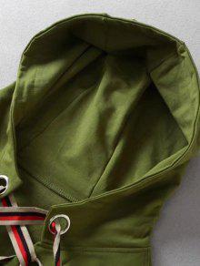 Verde Ejercito Capucha Sudadera Sobredimensionada M Con qIOxzw0