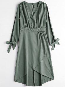 Robe Mi-longue à Fente - Vert Armée M