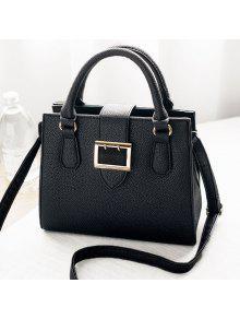 محكم جلد حزام مشبك حقيبة حمل - أسود