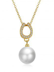 Collar De Herradura Collar De La Perla - Dorado