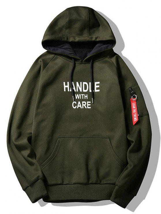 women's Slogan Graphic Hoodie Men Clothes - ARMY GREEN 2XL