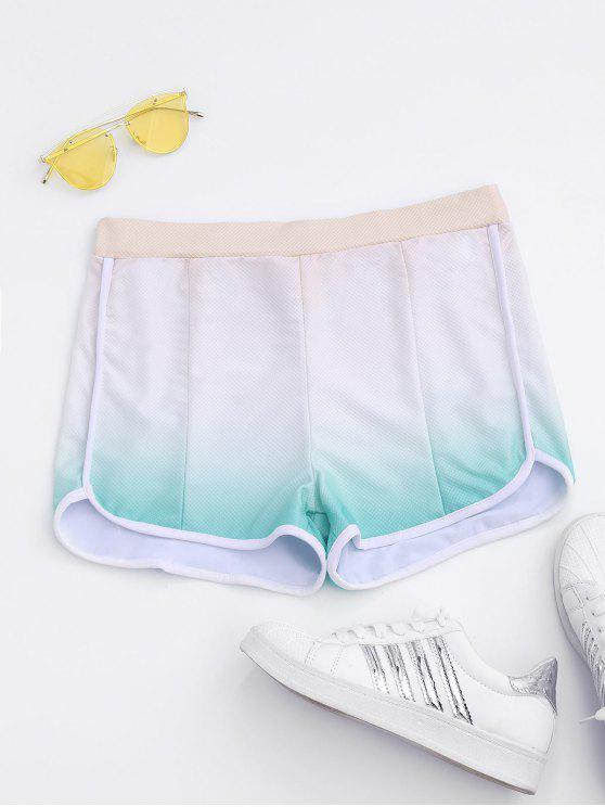 women Ombre Running Shorts - COLORMIX L