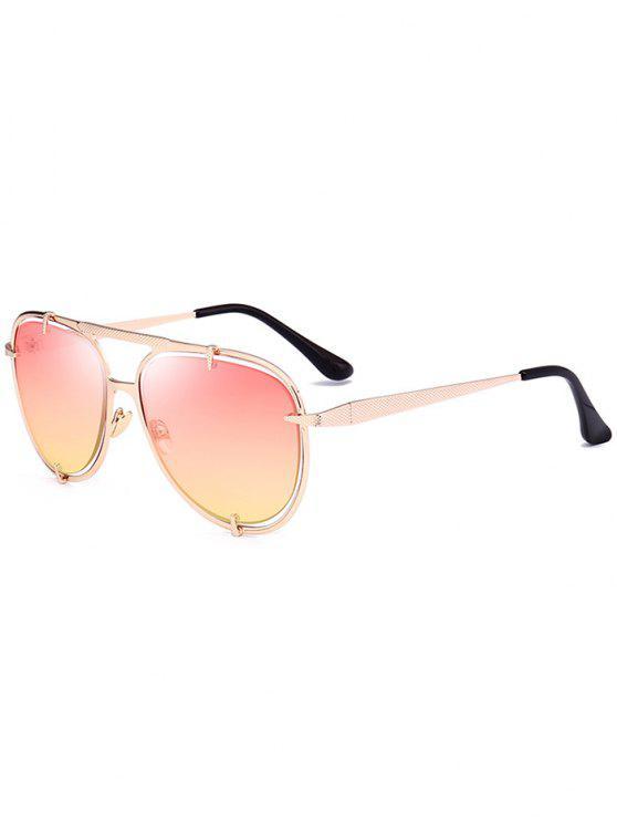 Metallic Insert Mirror Pilot Óculos de sol - Rosa