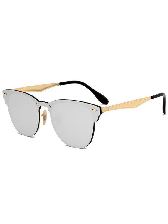 new Metallic Mirror Wayfarer Sunglasses - SILVER