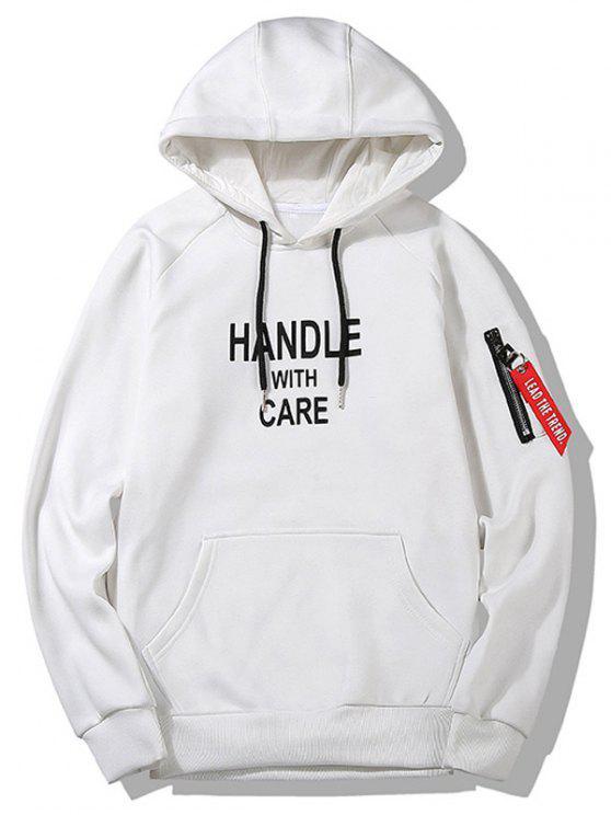 Slogan Graphic Hoodie Roupa de homem - Branco 2XL