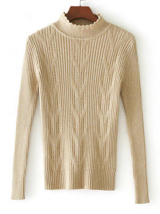 Suéter de panel de punto tejido con hilo horneado - Albaricoque Única Talla