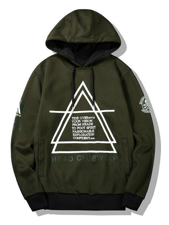 Flocage de Hoodie pour homme graphique - Vert Armée L
