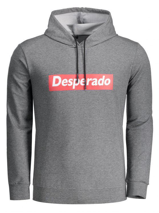 هوديي مرسوم ب Desperado - الرمادي العميق 2XL