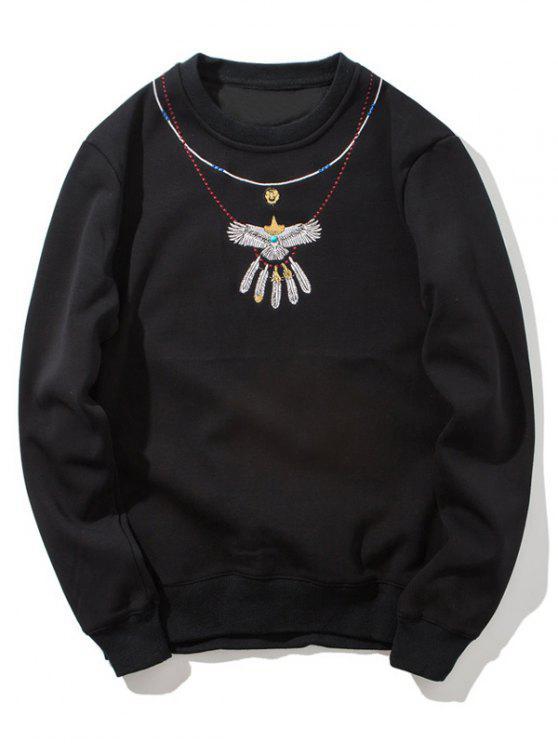 Jersey de cuello de equipo que se reúne - Negro M