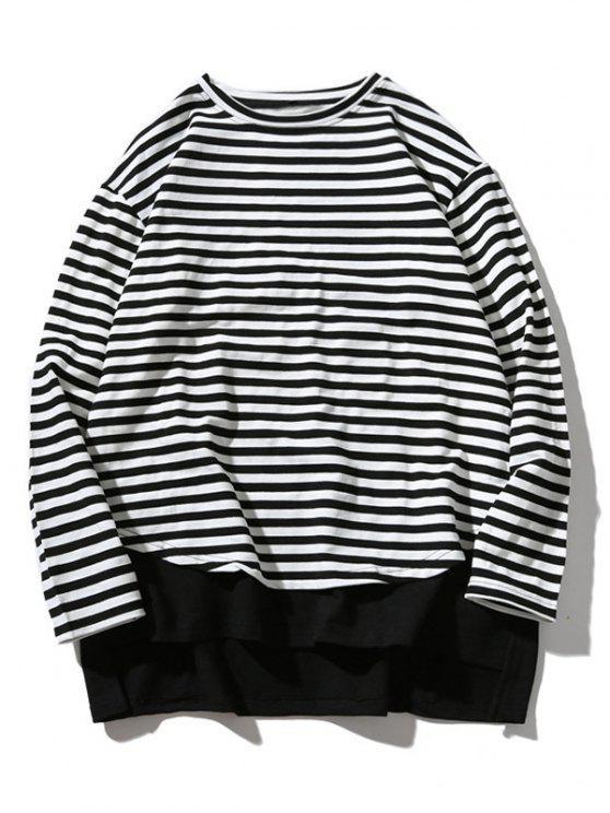 shops Striped Oversize Sweatshirt - STRIPE L