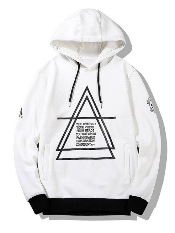online Flocking Graphic Hoodie Men Clothes - WHITE 4XL