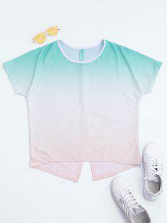Back Slit Ombre T-shirt - M