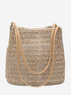 Bucket Straw Shoulder Bag - Palomino