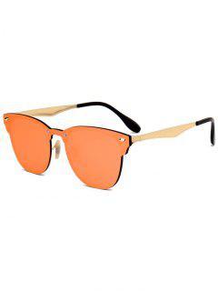 Metallic Mirror Wayfarer Sunglasses - Orange