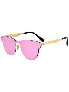 Espejo Metálico Wayfarer Gafas De Sol - Rosa