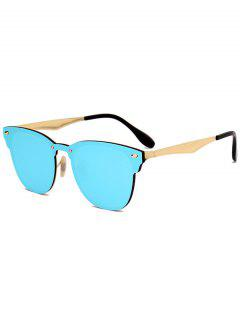 Metallic Mirror Wayfarer Sunglasses - Ice Blue