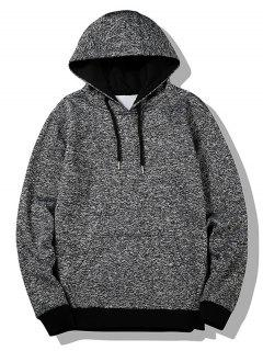 Flocking Heathered Hoodie - Gray L