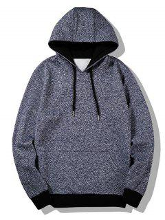 Flocking Heathered Hoodie - Blue 4xl