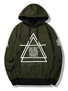Flocking Graphic Mens Hoodie - Army Green 2xl