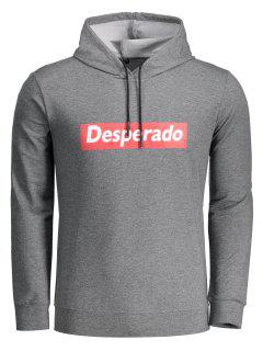 Desperado Graphic Hoodie - Deep Gray 2xl