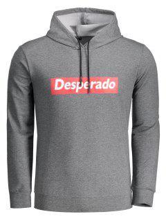 Desperado Graphic Hoodie - Deep Gray Xl