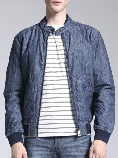 Zip Up Chaqueta Acolchada Denim - Azul L