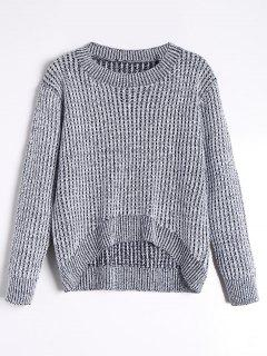 High Low Pullover Sweater - Gray