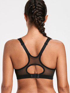 Adjustable Sports High Impact Bra - Black M