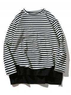 Striped Oversize Sweatshirt - Stripe M