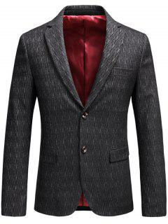 Single Breasted Lapel Collar Business Blazer - Gray 2xl