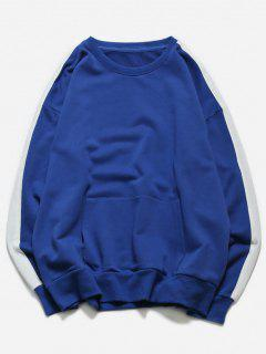 Cuello Del Cuello De La Camiseta - Azul 2xl