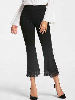 High Waisted Ninth Bell Bottom Pants - Black Xl