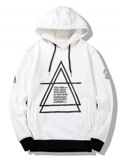 Flocking Graphic Mens Hoodie - White L