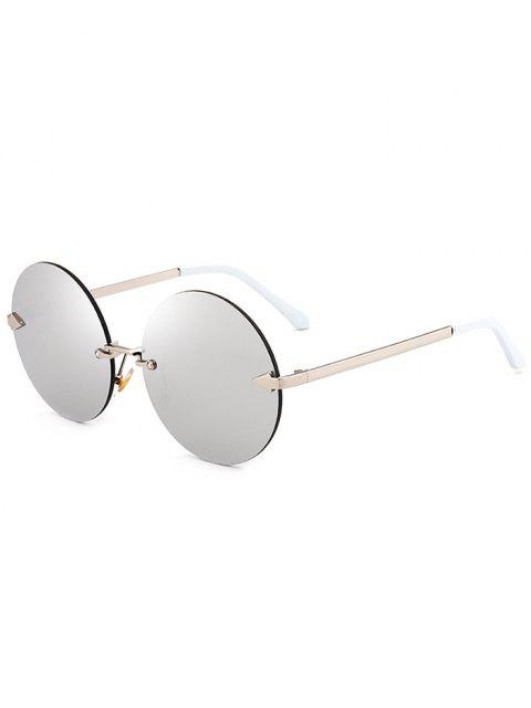 new Jelly Lens Round Rimless Sunglasses - SILVER  Mobile