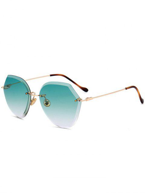 affordable Ombre Lens Metallic Legs Rimless Sunglasses -   Mobile