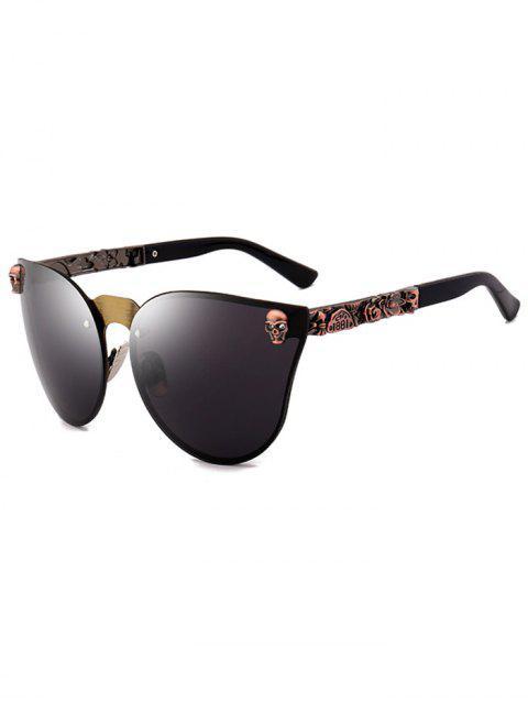 Schädel-Einsatz-Schmetterlings- Linsen-Sonnenbrille - SCHWAR ZGOLD  Mobile