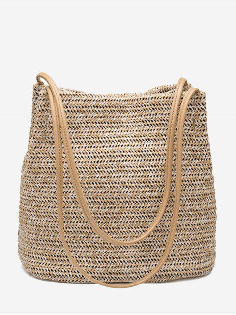 best Bucket Straw Shoulder Bag - PALOMINO  Mobile