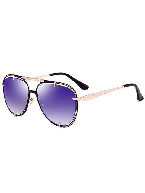 Lunettes de lunette de miroir à miroir métallisé - Or  Mobile