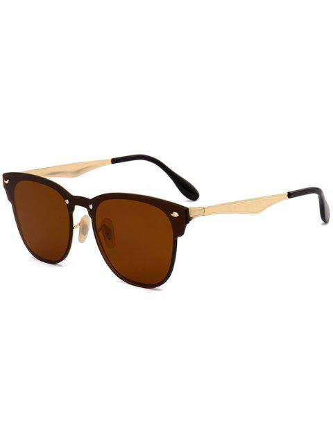 Metall Linsen Wayfarer Sonnenbrille - Schokolade  Mobile
