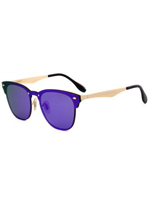 Metall Linsen Wayfarer Sonnenbrille - Rittersporn  Mobile