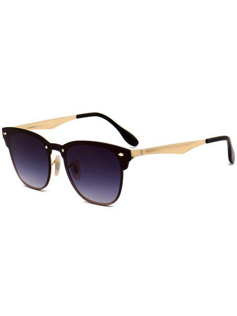 online Metallic Mirror Wayfarer Sunglasses - BLACK GREY  Mobile