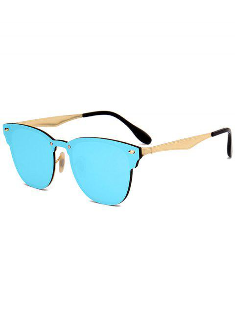 shops Metallic Mirror Wayfarer Sunglasses - ICE BLUE  Mobile